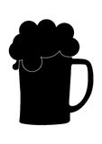 Beer glass silhouette. A glass of fizzy beer Royalty Free Stock Images