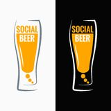 Beer glass social media concept background Royalty Free Stock Photography