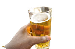 A BEER GLASS Royalty Free Stock Photography