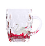 Beer glass and swan. Stock Photos