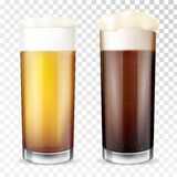 Beer glass. Transparent cup. royalty free illustration