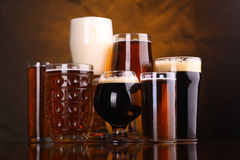 Beer glass variety Stock Photos