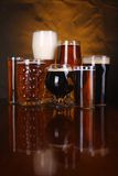 Beer glass variety Royalty Free Stock Image