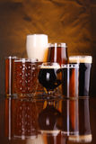 Beer glass variety Stock Photo