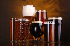 Beer glass variety Royalty Free Stock Photo