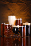 Beer glass variety Stock Photography