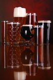 Beer glass variety Stock Image