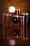 Beer glass variety Royalty Free Stock Photos