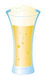 Beer glass vector. Beer glass over white background. Colors can be changed in additional format Stock Image
