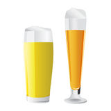 Beer glass vector. In color Royalty Free Stock Image