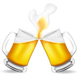 Beer in glass vector illustration. Isolated on white background Royalty Free Stock Images