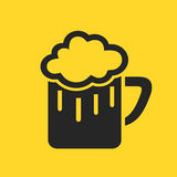 Beer icon. Glass of beer vector illustration Royalty Free Stock Photos
