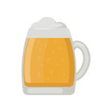 Beer glass vector illustration. Alcohol beer vector transparent glass illustration. Celebration refreshment brewery icon. Party dark vintage beverage mug frosty Stock Image
