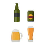 Beer glass vector illustration. Alcohol beer vector transparent glass illustration. Celebration refreshment brewery icon. Party dark vintage beverage mug frosty Stock Photography