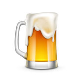 Beer Glass Vector Illustration. On White Background Royalty Free Stock Photos