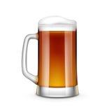 Beer Glass Vector Illustration. On White Background Stock Image