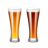 Beer Glass Vector Illustration. On White Background Royalty Free Stock Images