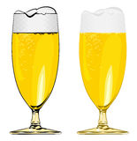 Beer glass vector image. On white Stock Images