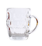Beer glass on a white. Royalty Free Stock Photography