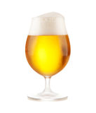 Beer glass on white background Stock Image