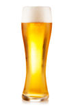 Beer glass on white background Royalty Free Stock Images