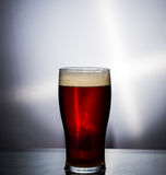 Beer Glass. With white background, head, condensation,foam Stock Photography