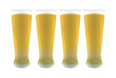 Beer Glasses Stock Photography