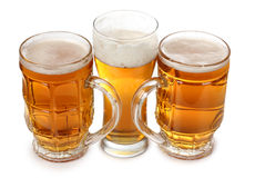 Beer in glasses Royalty Free Stock Image
