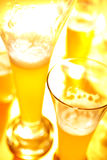 Beer in glasses Royalty Free Stock Photo