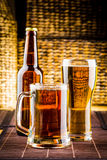 Beer glasses Stock Image