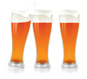 Beer glasses. Royalty Free Stock Photography