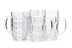 Beer glasses isolated Stock Images