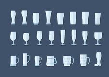 Beer glasses and mugs flat line icon Stock Photo