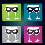 Beer glasses and beer mugs icon. Vector illustration isolated on Beer glasses and beer mugs icon vector illustration