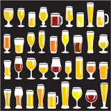 Beer Glasses Set Stock Photos