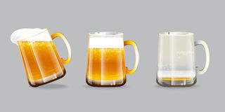Beer glasses Royalty Free Stock Photography