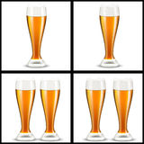 Beer glasses Royalty Free Stock Photos