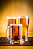 Beer glasses Stock Images