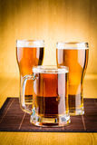 Beer glasses Royalty Free Stock Images