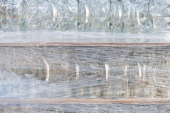 Beer Glasses Wraped in Plastic Stock Photo