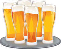 Beer goblets Stock Photo