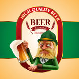 Beer goblin green Stock Photography