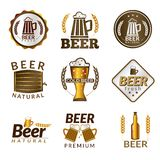 Beer golden emblems Royalty Free Stock Photography