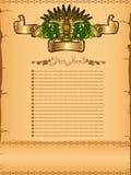 Beer grain hop menu background banner Royalty Free Stock Images