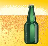 Beer green bottle Royalty Free Stock Photos