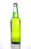 Beer Green Bottle with Condensation Stock Photo