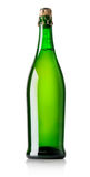 Beer in green bottle Royalty Free Stock Image