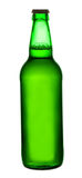Beer in a green bottle Stock Photography