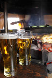 Beer and grill Royalty Free Stock Image