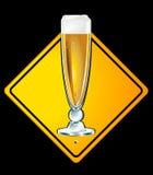Beer, half a pint Royalty Free Stock Photo